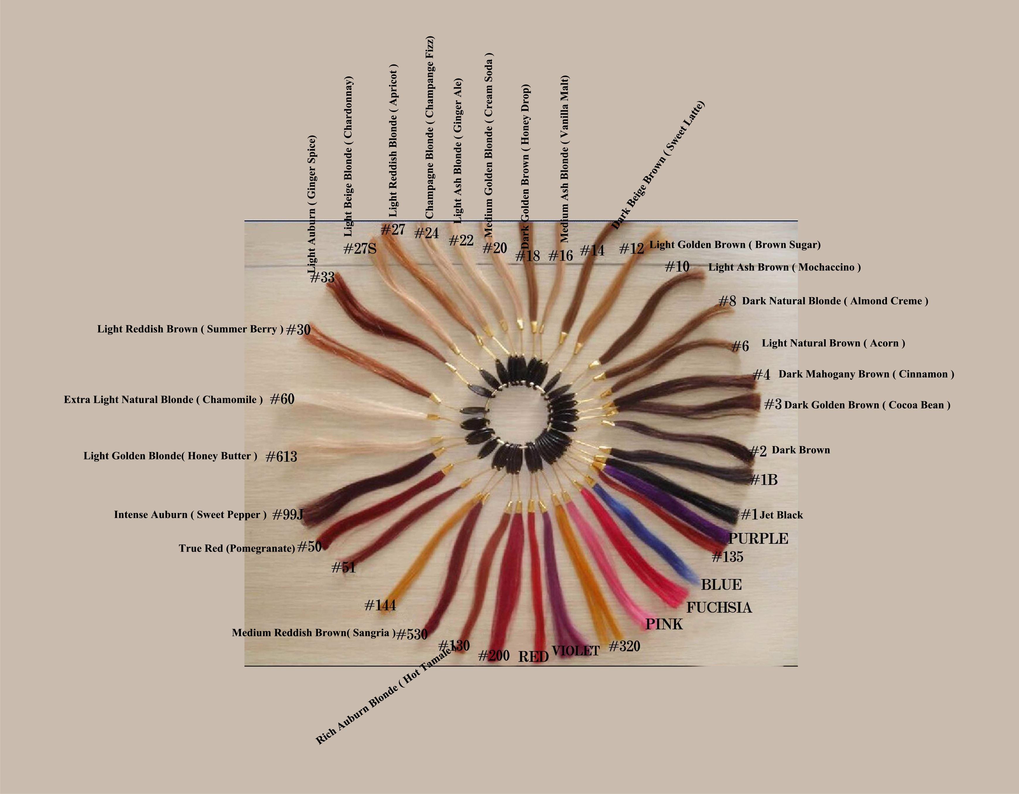 Maji organics color chart dye your hair colour chart 100 remy human hair nvjuhfo Image collections
