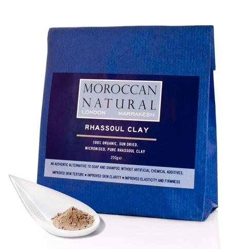 Moroccan Natural rhassoul clay 250g. new label