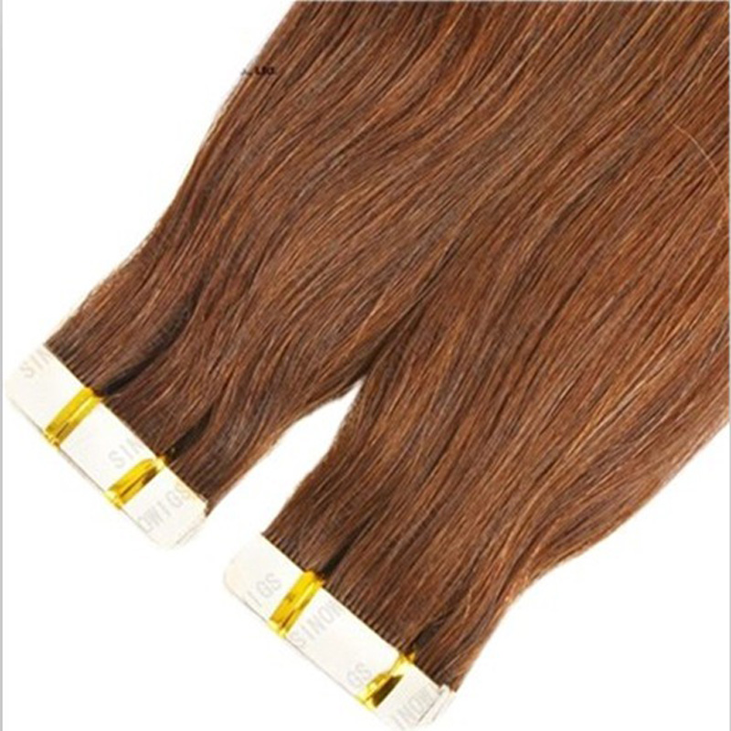 100 Remy Human Hair Deep Colour Tape Ons